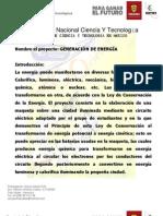GENERACIÓN DE ENERGÍA PROYECTO