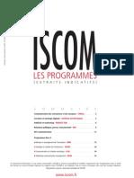 Programmes Iscom 2012