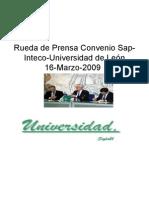 Rueda de Prensa Convenio Sap-Inteco-Universidad de León