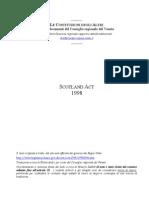 AAVV - Costituzione Scozzese Ed Atti Ad Essa Relativi