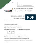 IBO 2010 Korea Theory Paper 1