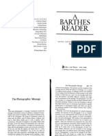Barthes Photographic Message