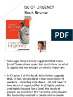 Sense of Urgency Book Review by TMY