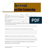 CORE Scholarship - Application Form
