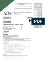 Chemistry Higher (Jan 2013)