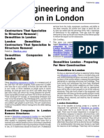 Civil Engineering and demolition in London