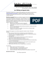 Sample Appeal Letter