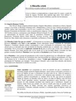 A Filosofia Crista Agostinho x Tomas de Aquino