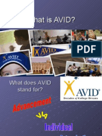 What is AVID?  Powerpoint