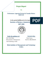 performance appraisal of yamaha