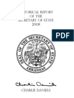 Arkansas Secretary of State Historical Report 2008