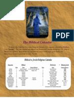 The Pagan Jewish Religious Calendar