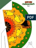 RECORTABLES - Poblado indio - Disney - 12 láminas