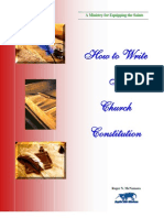 How to Write a Church Constitution
