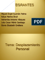 Desplazamiento Personal