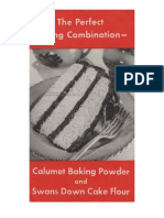CalumetThe Perfect Baking Combination - Calumet Baking Powder and Swans Down Cake Flour.  ca. 1936