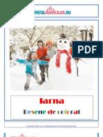 Carte de Colorat Cu Desene de Iarna
