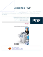 Manual de Instrucciones RICOH AFICIO MP 2550 S