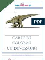 Carte de Colorat Cu Dinozauri