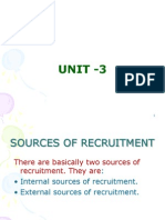 sources of recruitment