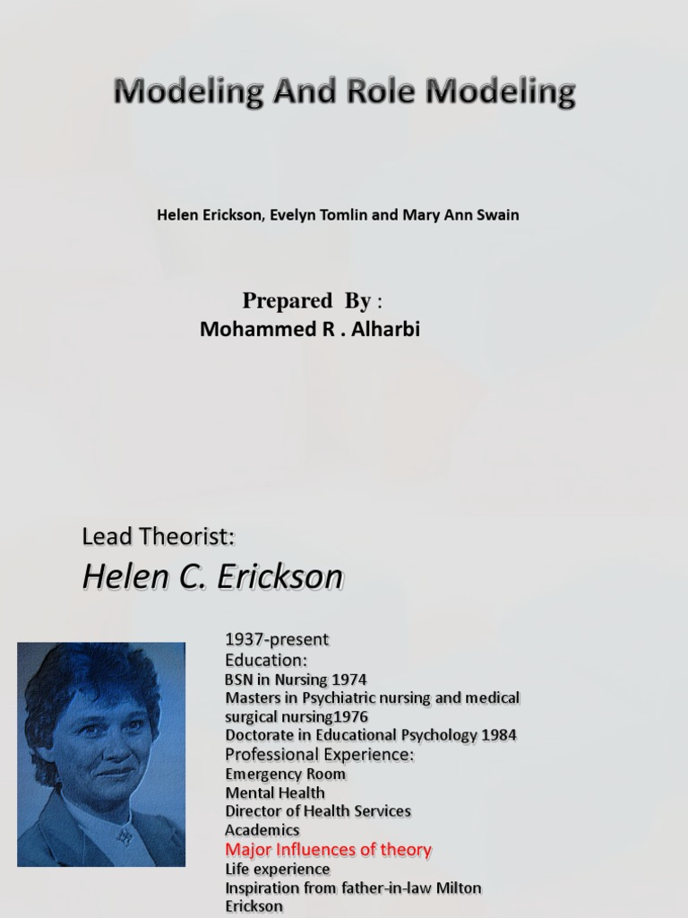 modeling and role modeling theory helen erickson