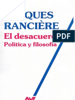 Ranciere, Jacques - El Desacuerdo