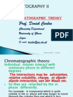 Chromatographic Theory