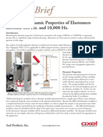 Measuring Dynamic Properties of Elastomers