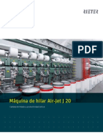 J 20 Air-jet Spinning Machine Brochure 2386-V1 Es 34515