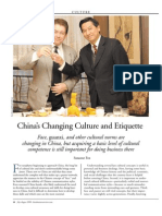 China's Changing Culture & Etiquette