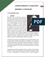 CORRIENTES FILOSÓFICAS EN EDUCACIÓN