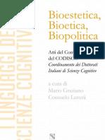 M Graziano e C Luvera a Cura Di Bioestetica Bioetica Biopolitica