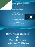 Dimensionamento de Partida Direta de Motor Trifasico