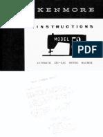 Kenmore Manual for Model 52