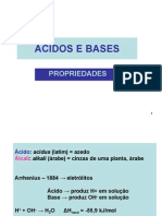 Acidos e Bases