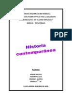 Historia Comtemporanea