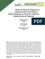 Contribuição dos Jogos de Empresa para empreendedorismo curso de administração