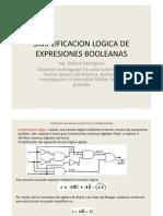 Simplificacion de Expresiones Logicas Mediante Las Leyes de Boole y Los Teoremas de Morgan
