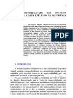 A IMPREVISIBILIDADE DAS DECISÕES JUDICIÁRIAS E SEUS REFLEXOS NA SEGURANÇA JURÍDICA