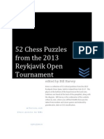52 Chess Puzzles of the 2013 Reykjavik Open