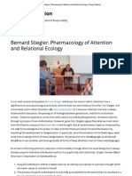 Bernard Stiegler_ Pharmacology of Attention and Relational Ecology