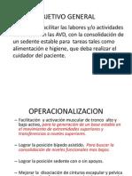 Objetivos y Operacionalizacion
