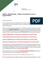 Artigo 3490 Anvisa Edital Publicado Analises Consideracoes Cursos e Recomendacoes