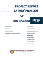 29172459 Live Project on Inventory Problem of Big Bazaar