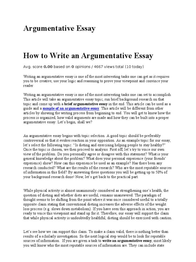 sample argumentative essay fat people