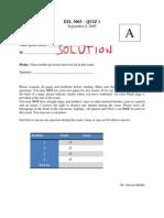 Quiz 01 Solution_A