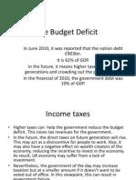 The Budget Deficit 1