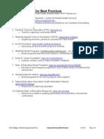 Parent & Family Involvement-Best Practices