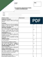 Pauta de Exposiciones Orales III Medio