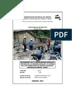 Informe Mensual Rosendo Zevallos Febrero 2013